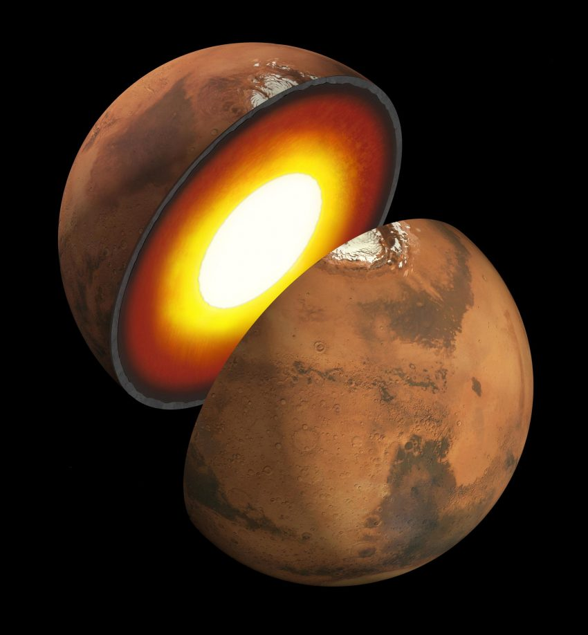 Revelada la estructura interna de Marte 2