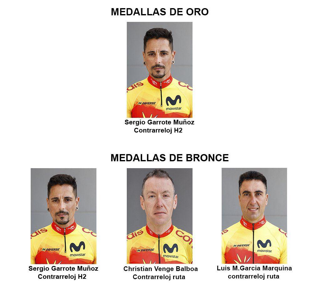 Ciclismo ruta MEDALLAS