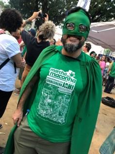O Capitão Presença na marcha. (Foto: Jonatan Oliveira).