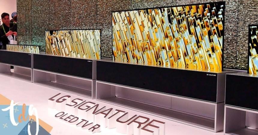LG anuncia la fecha de lanzamiento de sus televisores OLED enrollables y OLED 8K