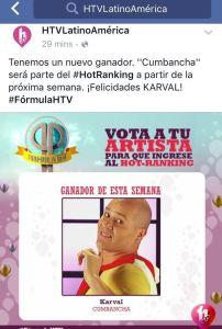 Karval Ganador en HTV anuncio facebook