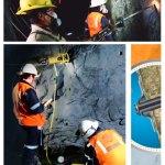 Perno de anclaje, aliado del sostenimiento en minas subterráneas
