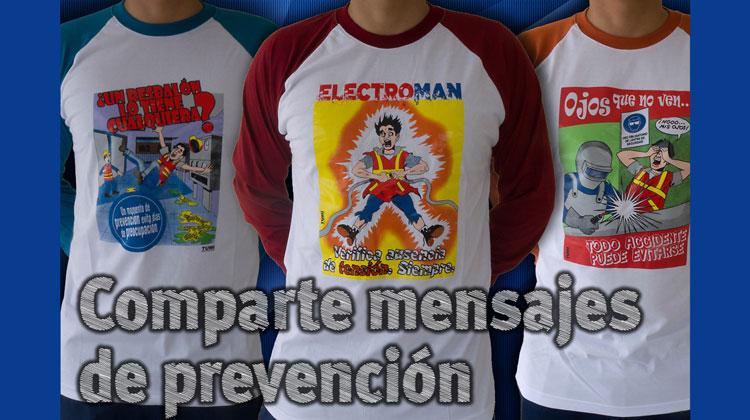Adquiera camisetas con caricaturas de seguridad