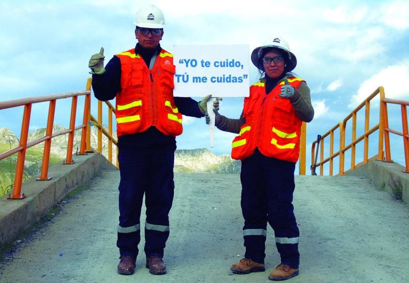"""Campaña de Antito para reforzar el lema """"Tú me cuidas, yo te cuido"""" en Antamina"""