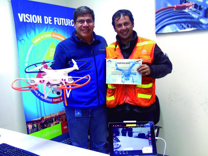 Antamina realiza inspecciones de riesgos críticos con drones.