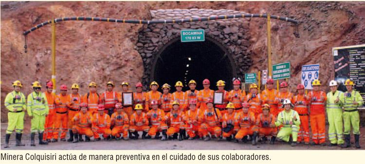 Minera Colquisiri actúa de manera preventiva para el cuidado de sus colaboradores
