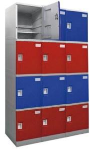 Modernos casilleros o lockers, de material ABS, que Maletek ofrece a las empresas mineras y energéticas.