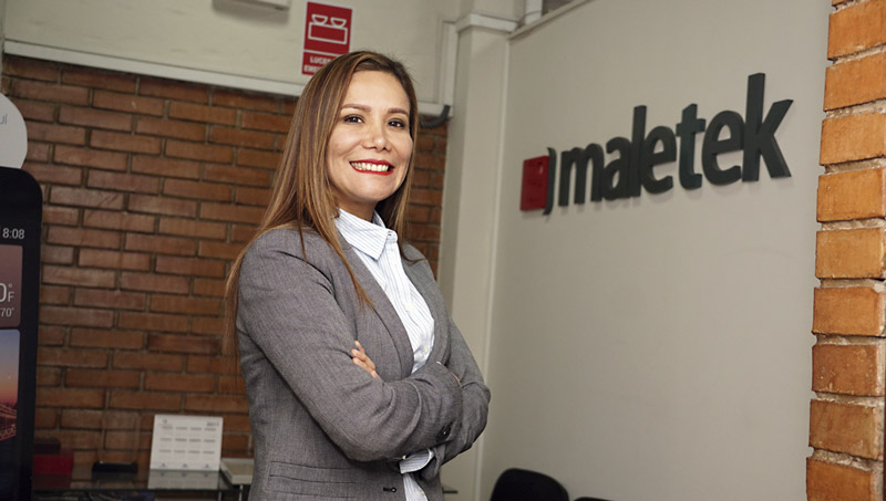 Paola Aybar Soto, gerente comercial de Maletek Perú.