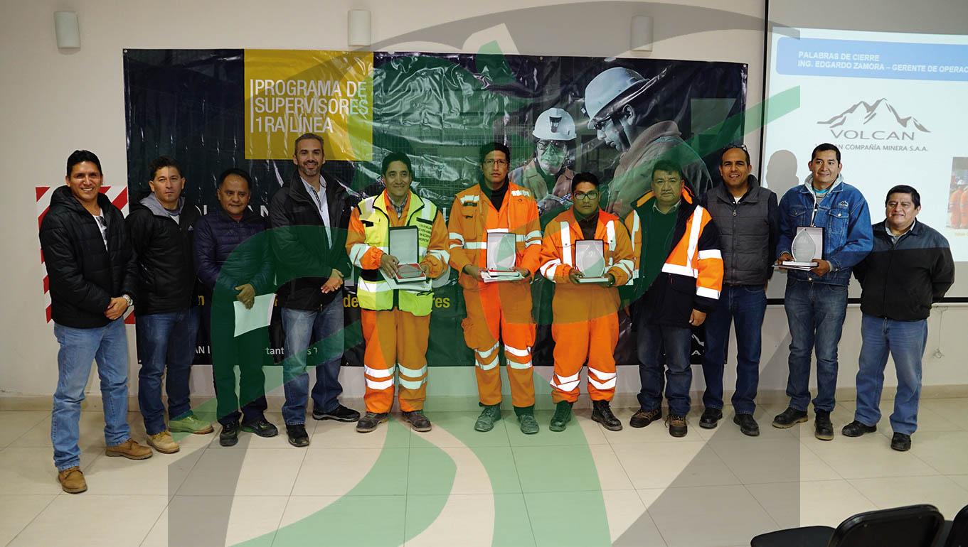 Supervisores de Andaychagua, Carahuacra, Mahr Tunel y San Cristóbal recibieron premios por destacada intervención en Programa de Supervisores.