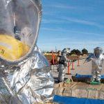 Implementación de ropa de protección química