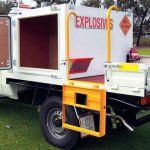 Medidas para el transporte de explosivos según el reglamento de seguridad