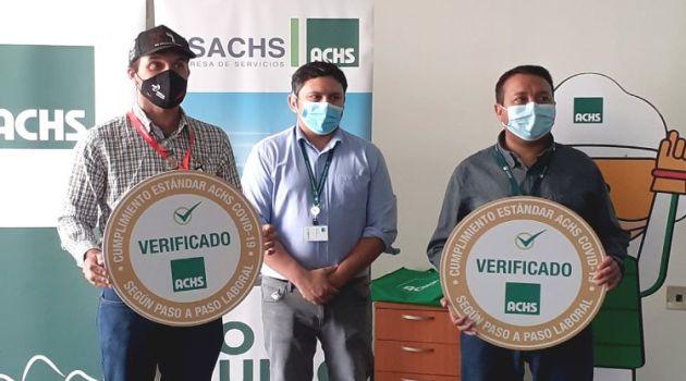 Área de Salud de Minera Candelaria recibió Sello de Gestión COVID-19 otorgado por la ACHS
