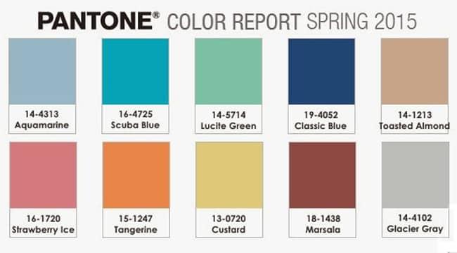 Colores Pantone Primavera 2015