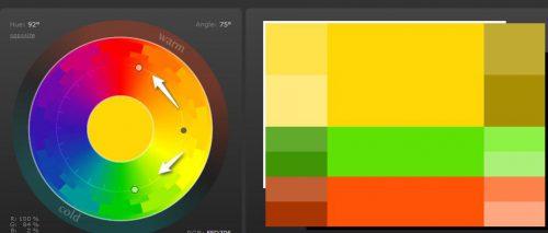 Como combinar colores análogos