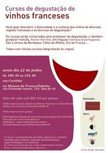 Primeira fotogarfia publicada no artigo Curso de degustação de vinhos franceses na Maison de France