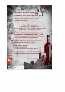 Primeira fotogarfia publicada no artigo Degustação de vinhos franceses