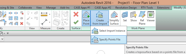 Generating 3D Topography from a 2D DWG file | REVIT AU