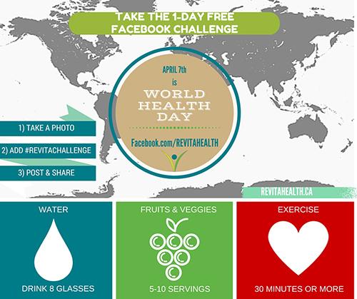FREE 1-Day World Health Day Facebook Challenge.