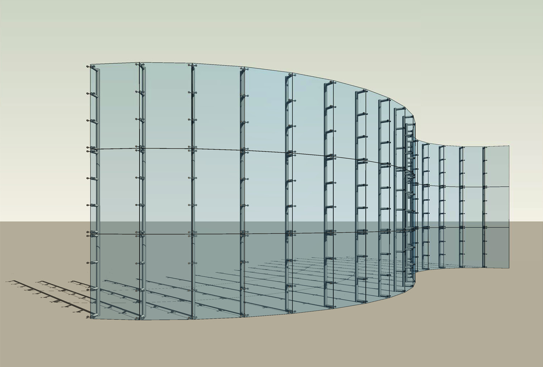 curtain wall with 260 alum sill
