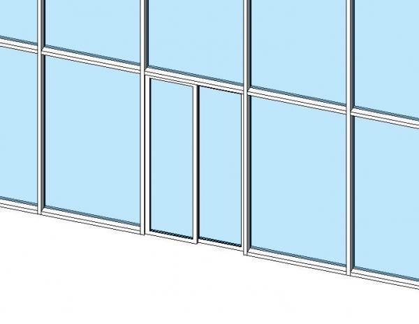 Sliding Curtain Wall Door
