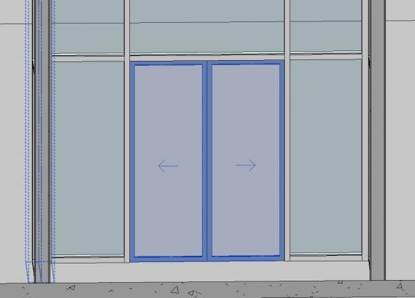 Curtain Wall Sliding Door Double