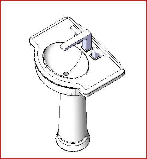 revitcity com object pedestal sink