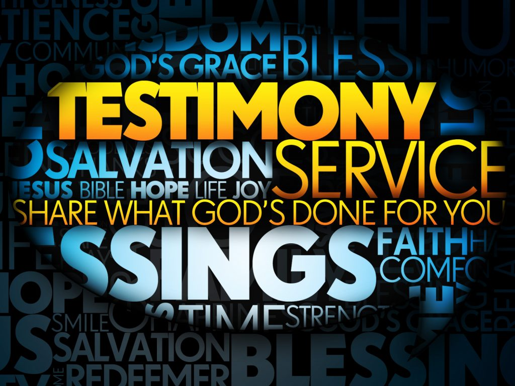 From The Desk Of The Pastor My Testimony Revival Center