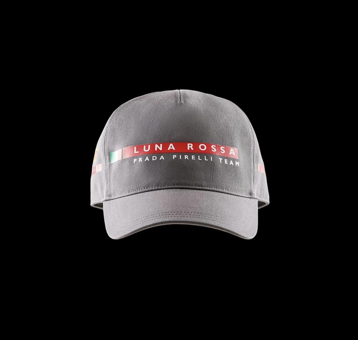 Prada cappello baseball Luna rossa grigio