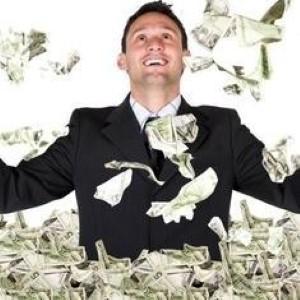 Rich men love to shop.