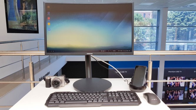 Samsung DeX și monitor