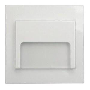 Schodové svietidlo štvorcové ONTARIO, teplá biela, biele