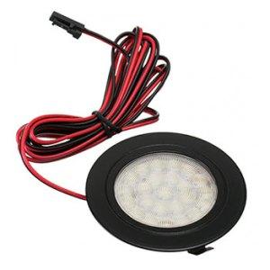 Nábytkové, kruhové svietidlo PROFI, zapustené 1.8W, 180lm, čierne, teplá biela