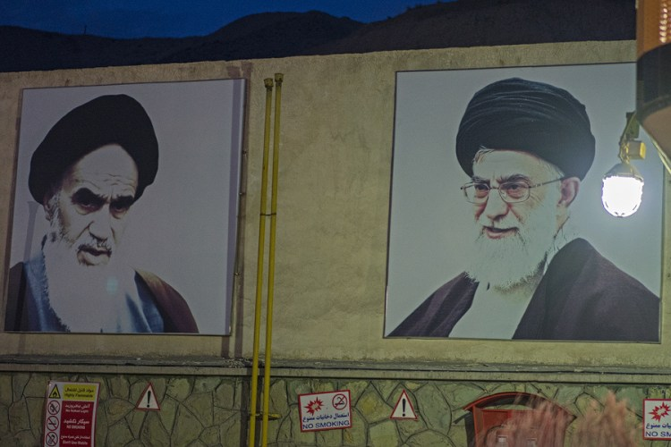 Spot the difference, a popular game at Iranian petrol stations.