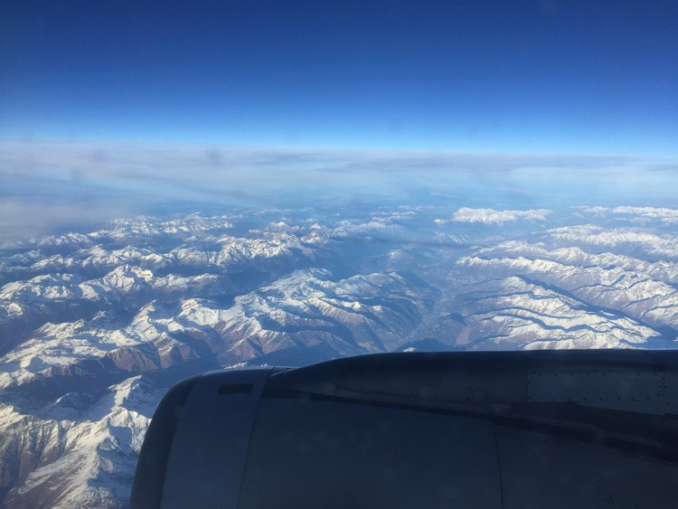 The Alps, viewed from 15F