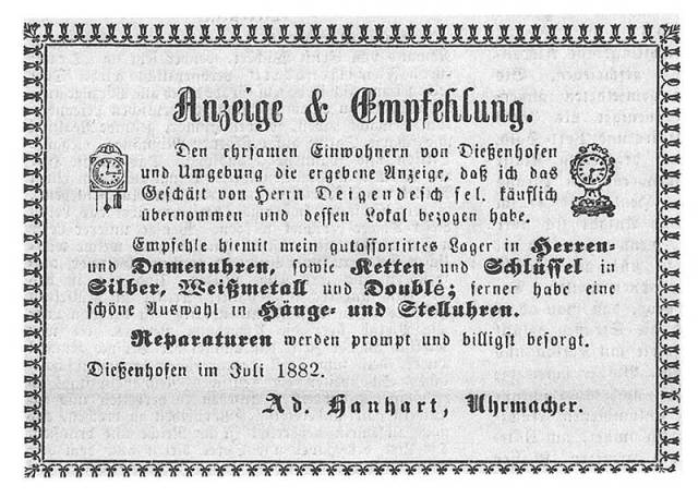 1882, Hanhart is founded (Image: Hanhart.com)
