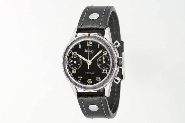 In 1956, Hanhart produced its legendary pilot's watches, with the updated Calibre 42, quickly distinguished from the WWII-era timepieces by modern pencil-shaped hands. (Image: Hanhart.com)