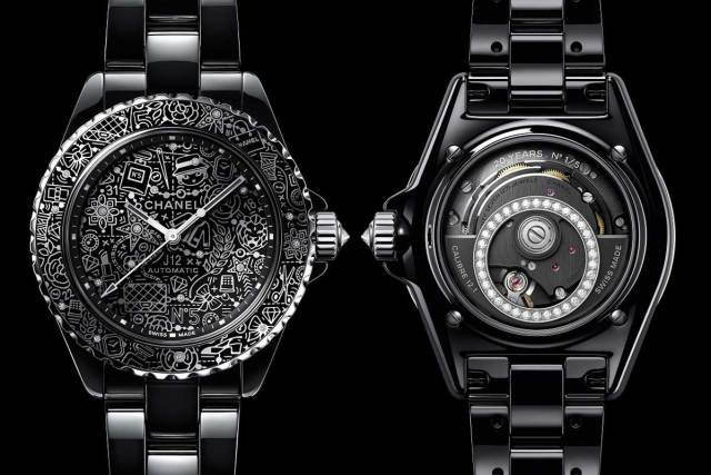 Celebrating the Chanel J12 20th anniversary, the J12-20 lets loose with playful cartoon scribbles after getting down to business with new caliber 12.1 in-house movement last year.