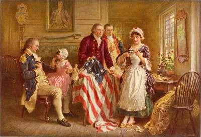 Betsy Ross 1777 by Jean Leon Gerome Ferris