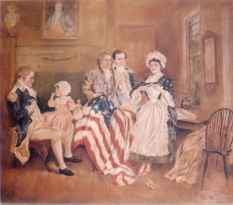 Betsy Ross Flag painting by Ellie Wheeler