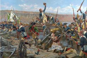 Storming Fort Washington by the Hessians