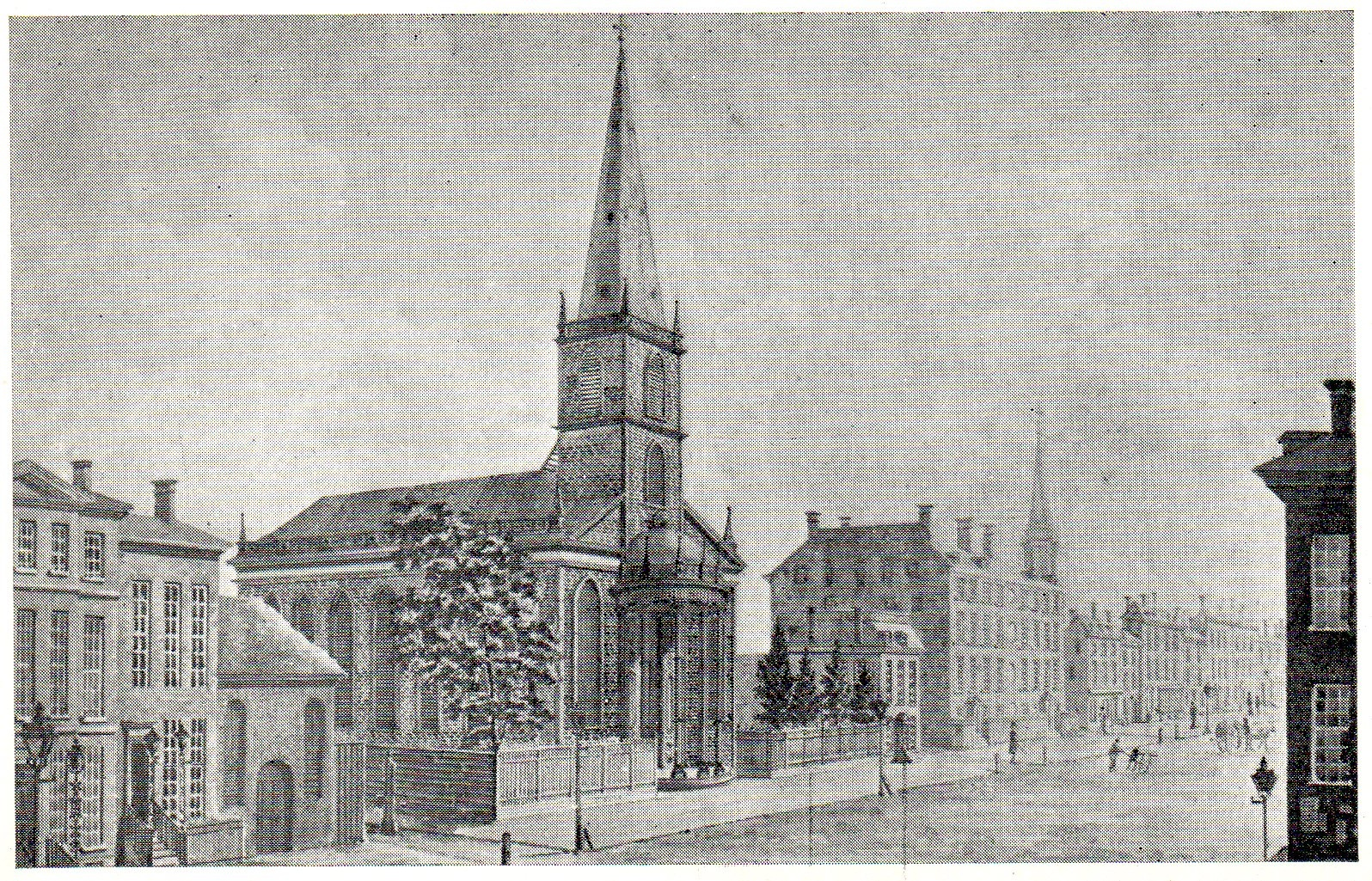 Trinity Church Prior To Its Destruction In The 1776 Fire That Burned One  Quarter Of New York City.