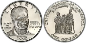 Dollar coin minted in 1998