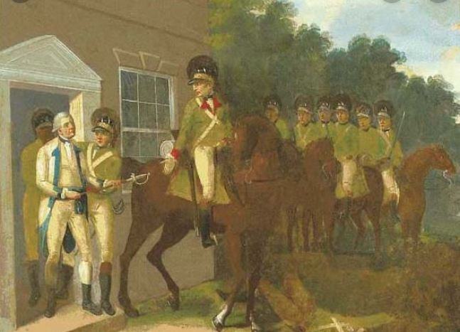 General Charles Lee is captured at the Widow White's Tavern on Friday, December 13, 1776. At first considered the last straw for the American cause, proved to be a blessing.
