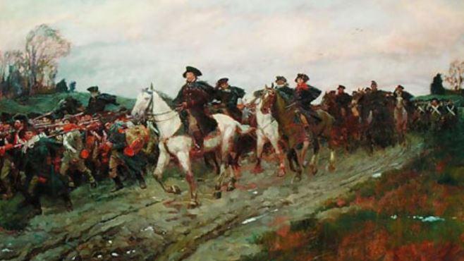 Washington retreat across New Jersey Howard Pyle
