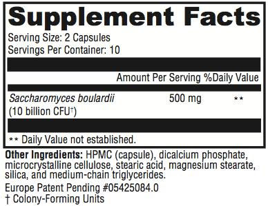 Saccharomycin Supplement Facts