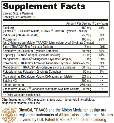 revolution mineral supplement facts