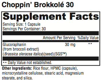 Choppin Brokkole Supplement Facts