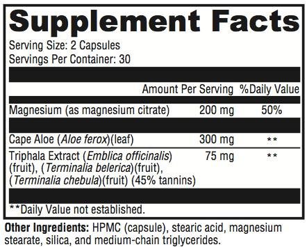 Colon Blow Supplement Facts