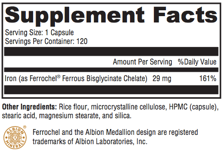 Iron LiFE Supplement Facts