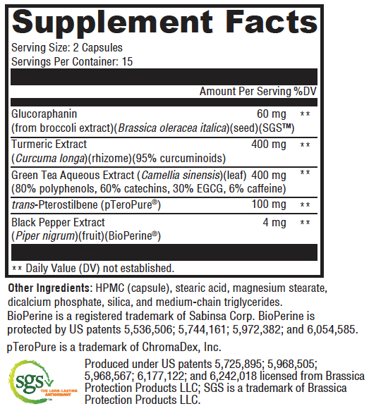 Nrf 2.0 Supplement Facts | Tulsa Nutritional Supplements